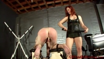 A blond woman enjoying an unclean game with a fixation companion