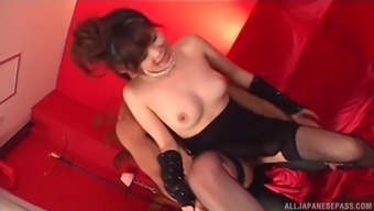 Japanese girlfriend or wife Rural china Yuki does filthy factors and get a taster of sperm