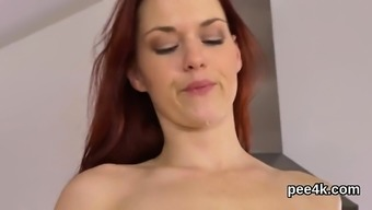 Adorable nympho is urinating and touching bald kitty57SVW