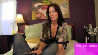 BUSTY STEP MOM GIVES SON A HAND