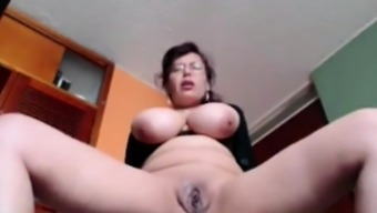 Busty Homemaker Liza toying living at your home