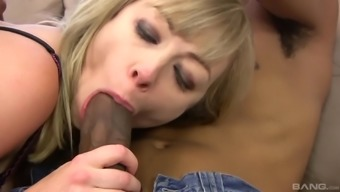 Adrianna Nicole's anus packed with semen after an interracial fuck