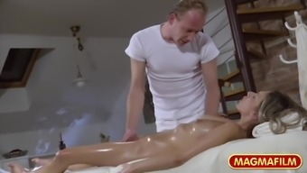 The german language Coconut oil Massage session