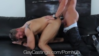 Hdtv GayCastings - Strong texas boy fucked on chosing couch