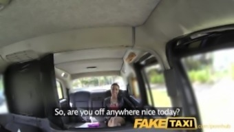 FakeTaxi Taxi driver gets blessed with good luck twofold with definitely warm baby