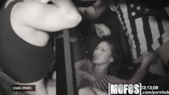 Mofos - Threesome with the use of Alina LI is caught on video camera