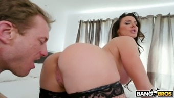 After being seated sizzling shower gorgeous full-figured damsel Kendra Want gets fucked from behind